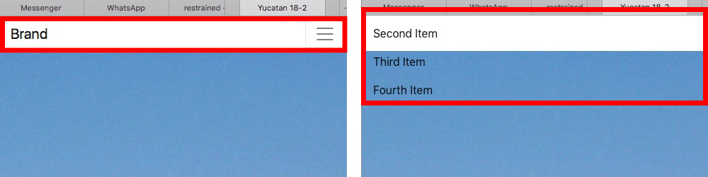 Vertical alignment of expanded hamburger menu? – Bootstrap
